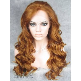 Kanekalon Wig. Wavy Red Ginger Long Wig