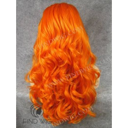 Lace Front Wig For Show.Wavy Orange Long Lace Wig