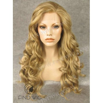 Kanekalon Lace Front Wig. Wavy Blonde Long Wig