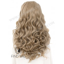 Lace Front Wig. Wavy Light Ash Blonde Long Wig