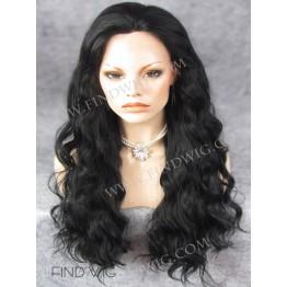 Kanekalon Wig. Wavy Black Long Wig. Online Wigs Store