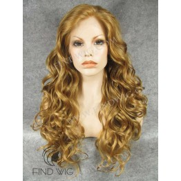 Wavy Gold Blonde / Ginger Long Lace Front Wig