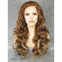 Highlighted Wig. Wavy Long Chestnut Highlighted Wig. Buy Wigs Online