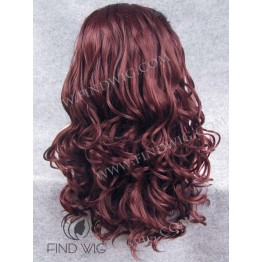 Lace Front Wig. Curly Red Long Wig