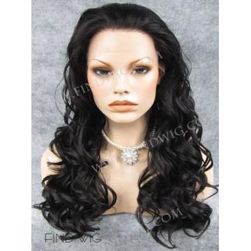 Kanekalon Wig. Curly Dark Brown Long Wig