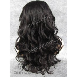 Kanekalon Wig. Curly Dark Brown Long Wig