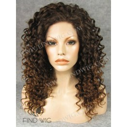 Lace Front Wig. Curly Chestnut Medium Long Wig. Wigs Online